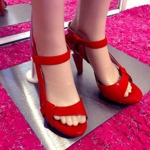CHLOE Heels Sandals Shoes Red US 9 EU 39 UK 6